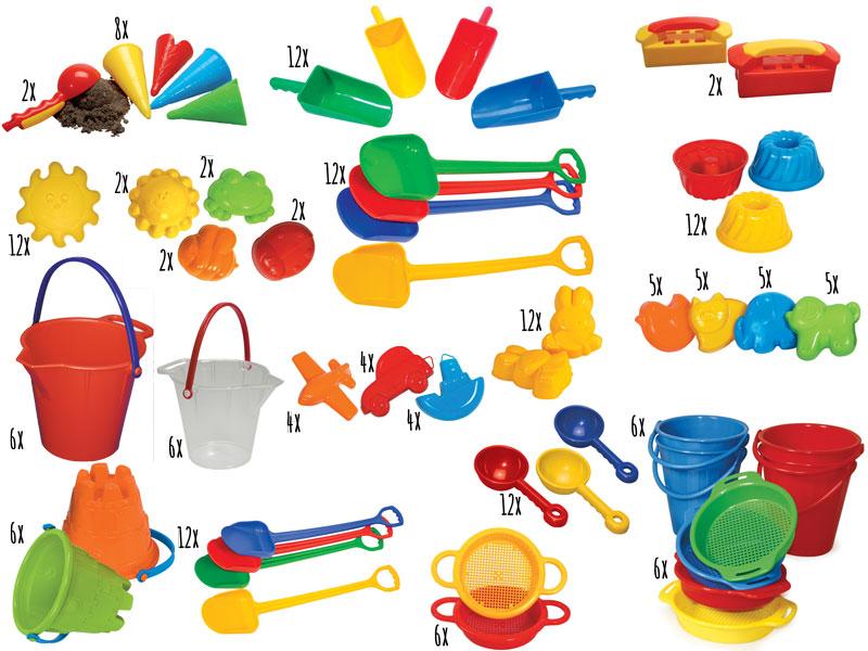 sandspielzeug  xxl kindergartenset  sandformen