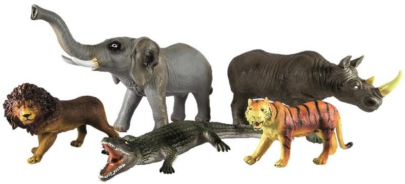 wildtiere xxl 5er set afrika  spielfiguren  tiere